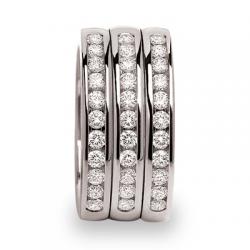 Celetna 3 rails diamants HSI 0,99 ct or blanc