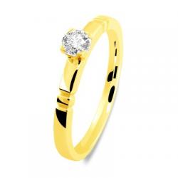 Solitaire 40140015 2 mm 1 brillant or jaune