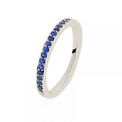 Coralie Saphirs bleus Or blanc