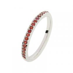 Coralie Saphirs rouges Or blanc