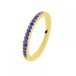 Coralie Saphirs bleus Or jaune