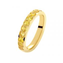 Coralie Saphirs jaune Or jaune