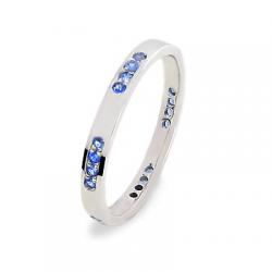 Alexa 2,5 Saphirs bleus Or blanc