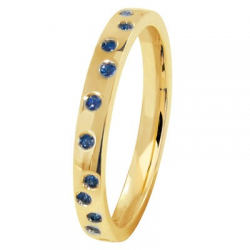 Fidelis Aléatoire 0,32 ct Saphirs bleus Or jaune