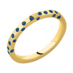 Diana 1/2 Tour Saphirs bleus Or jaune