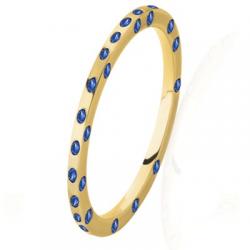 Diana Tour Complet Saphirs bleus Or jaune