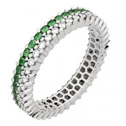 Twin Petit Modèle Diamants & Emeraude