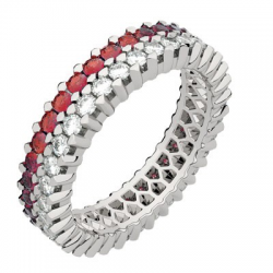 Twin Moyen Modèle Diamants & Rubis