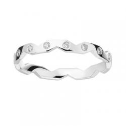 Zig Zag 0,08 ct Diamants Or blanc