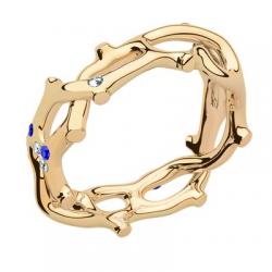 Jardin Secret Forever PM Diamants & Saphirs Bleus Or jaune