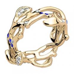 Jardin Secret Forever GM Diamants & Saphirs Bleus Or jaune