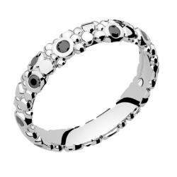Galucha PM Diamants Noirs Or blanc