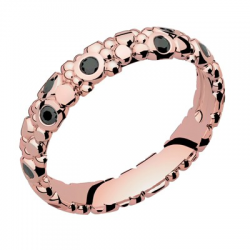 Galucha PM Diamants Noirs Or rose