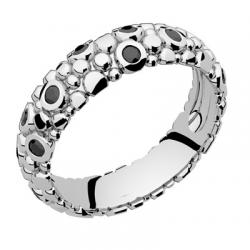 Galucha MM Diamants Noirs Or blanc