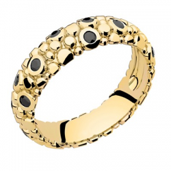 Galucha MM Diamants Noirs Or jaune