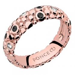 Galucha MM Diamants & Diamants Noirs Or rose