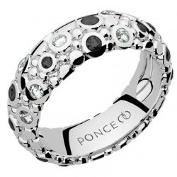 Galucha GM Diamants & Diamants Noirs Or blanc