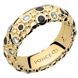 Galucha GM Diamants & Diamants Noirs Or jaune