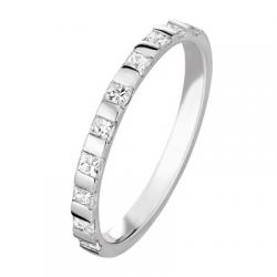 Pincesse 0.80 ct Diamants Princesse Tour complet Or Blanc