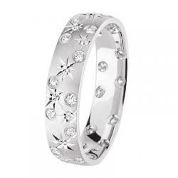 Alliance Joyce 0.12 ct Diamants tour complet Or gris mat