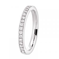Coralie 0.50 ct Diamants tour complet Or Blanc