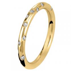 Fil Rond 0.42 ct Diamants Tour Complet Or Jaune