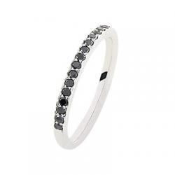 Coralie 0.40 ct Diamants Noirs Tour complet Or Blanc