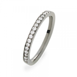 Coralie 0.40 ct Diamants Tour Complet Rhodiage noir