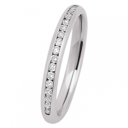 Lyra 0.40 ct Diamants tour complet Or Blanc