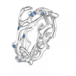 Jardin Secret Forever GM Diamants & Saphirs Bleus Or blanc