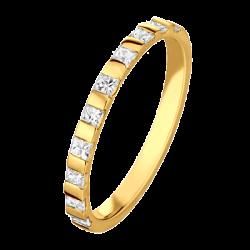 Princesse 0,40 ct Diamants Princesse Or jaune