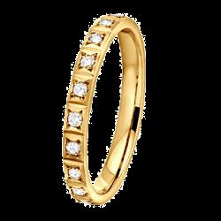 Nikki 0,10 ct Diamants Or jaune