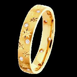 Alliance Joyce 0,12 ct Diamants Or jaune mat