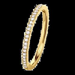 Mini Coralie Diamants 0.28 ct Tour complet or jaune