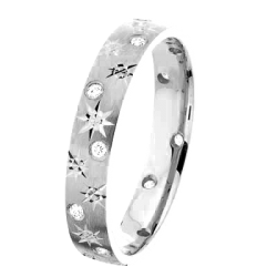 Alliance Joyce 0,12 ct Diamants Or blanc mat