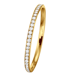 Alliance Jonc Parisien 1 Rang 0,14 ct Diamants Or Jaune