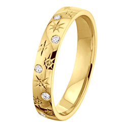 Alliance Joyce 0.12 ct Diamants Or jaune brillant