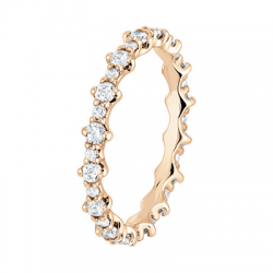 Alliance To You 1/2 Tour, Or rose, 0,36 ct