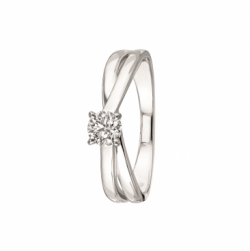 Solitaire Kokoro, Or gris 0,30ct